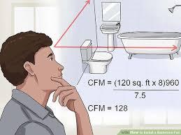 bathroom fan sizing. Image Titled Install A Bathroom Fan Step 1 Sizing