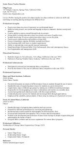 Dance Resume. Dance Rsum Dance Teacher Resume - Best Resume