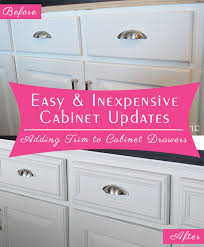 Trim For Cabinets Easy And Inexpensive Cabinet Updates Adding Trim To Cabinets