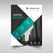 blue and black corporate brochure free vector