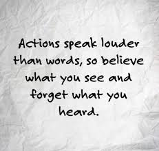 action speak louder than words essay an essay about action speak louder than words