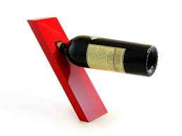 red wine plank bottle holder bottle red wine
