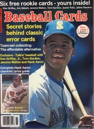 Baseball Cards November 1989 ken Griffey Jr. Hank Aaron, Tom Gordon w/  Cards: SCD: Amazon.com: Books