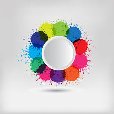 Colour Backgrounds Free Coloured Splashes Background Vector Free Download