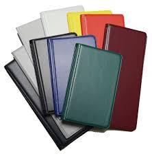 blank vinyl tally books in multiple colors