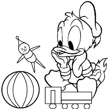 Appealing Disney Babies Coloring Pages Coloring Page Duck Ducks