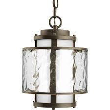progress lighting bay court 12 75 in antique bronze outdoor pendant light