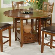 winners only zahara round counter height dining table with granite lazy susan hayneedle