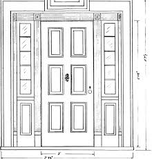 Open Front Door Illustration Door Design Drawing With Fantastic