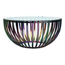 36 w coffee table round tempered glass