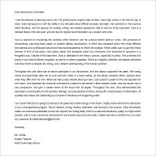 13 College Recommendation Letter Templates Samples Doc
