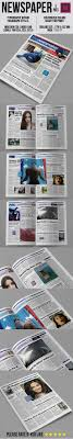 Custom Newspaper Template Newsletter Templates With Print Dimensions 11x17
