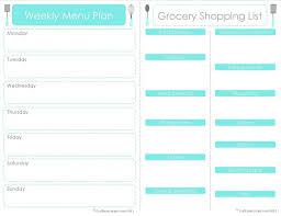 20 menu planner printables fab n menu planner grocery shopping list