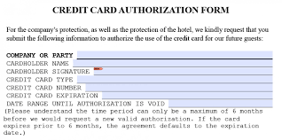 hilton hotel credit card authorization form howtoviews co