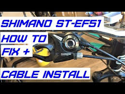 How to service <b>Shimano ST EF51</b> EZ fire shifters - YouTube