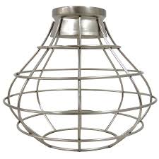portfolio ravensport 8 38 in h 8 38 in w brushed nickel wire cage pendant light shade