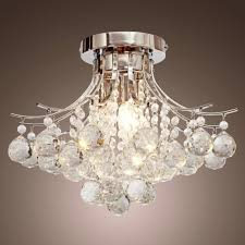 crystal chandelier ceiling mount pendant light lamp modern intended for chandelier crystal lamp