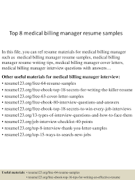 Billing Manager Resume Sample Top224medicalbillingmanagerresumesamples22450522460922242247lva224app62249224thumbnail24jpgcb=224243224762245247 14