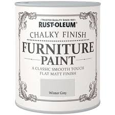 gray furniture paintRustOleum Chalky Finish Furniture Paint  Winter Grey  750ml