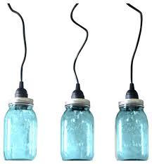 mason jar pendant lighting. Hanging Mason Jar Pendant Lights Set Of 3 Farmhouse Plug In Lighting .