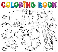 Charming Decoration Coloring Book Animals Just Colorings