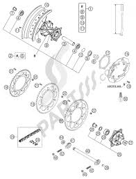Rear wheel d ed 625 smc ktm 625 smc 2004 eu