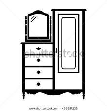 dresser clipart black and white. antique dresser armoire clipart black and white