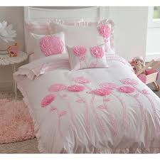 maholi floret pink collection 200 thread count cotton poly duvet cover set twin pink only