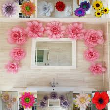 Pink Paper Flower Decorations Princess Theme Party Pom Pom Paper Flower Wall Tissue Pink