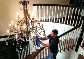 how to clean a chandelier on a high ceiling how to clean a chandelier without taking