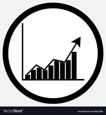 White Growth Chart Growth Chart Icon Black White