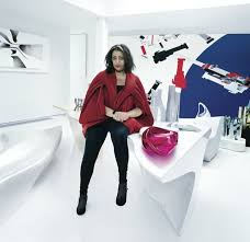 hadid in her home a loft in clerkenwell london
