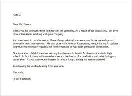 Job Interview Thank You Letter Template Pinterest Sample