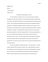 conflict and characterization essay doc