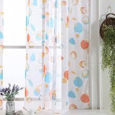 Sinogem Floral Tüll Printrd Sheer Vorhänge Für Wohnzimmer Das