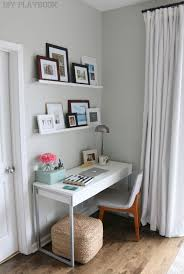 desk small office space desk. All You Need Is One Little Space To Create A Work Station. This Desk Tucked Into Master Bedroom Organized And Functional Still Looks Great In The Small Office E