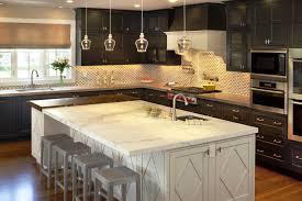 image of white kitchen island with granite top majestic
