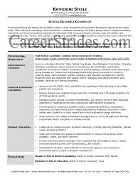 Sample Resume Sample Guidance Counselor Resume Teaching