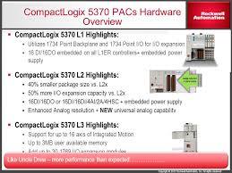 compactlogix and studio 5000 v21 highlights ppt 55 compactlogix