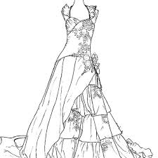 Small Picture Wedding Dresses Coloring Pages Free Printable Coloring Pages