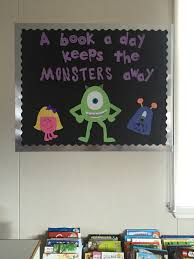 disney office decor. halloween bulletin board a book day keeps the monsters away classroom layoutoffice decorbulletin disney office decor e
