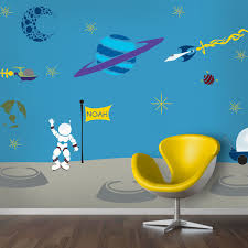 outrageous space wall mural stencil kit for painting