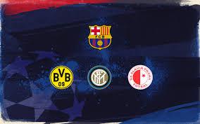 FC Barcelona to face Borussia Dortmund, Internazionale and Slavia ...