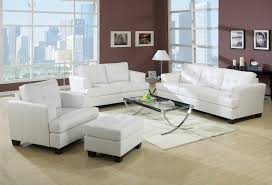 White Leather Chairs For Living Room Platinum White Sofa And Loveseat 15095