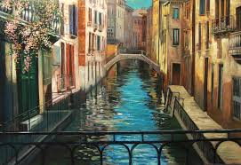 venice bridge by samson gabriel original oil on canvas