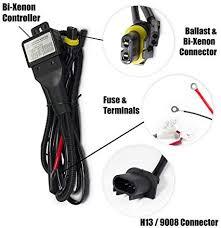 amazon com xtremevision h13 9008 hi lo bi xenon controller hid xtremevision h13 9008 hi lo bi xenon controller hid battery relay wiring harness