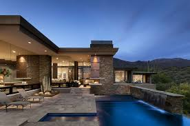 architecture houses. Delighful Houses Modern Home With Stone Facade Inside Architecture Houses