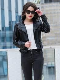 women s wear new pu leather jacket slim motorcycle jacket