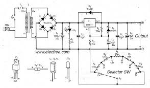 variable voltage regulator circuit diagram ireleast info lm317 voltage selector power supply 1 5v 3v 4 5v 5v 6v