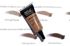 make up for ever aqua brow in blonde 15 review swatches
